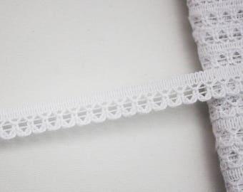 9 mm white lace braid, 5 m, lace lingerie ribbon