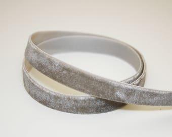 13 mm, 1 m gray velvet Ribbon