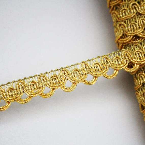Gold Borte 15 mm Streifen 1 m Goldband Geflecht | Etsy