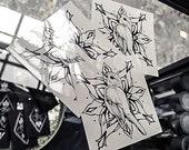 Bird with mandala~ temporary tattoo by Crystal Rose Tattoo