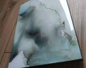 blue&gray abstract painting