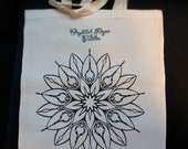 Mandala tote bag, Crystal Rose tattoo