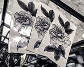 Rose~ temporary tattoo by Crystal Rose Tattoo