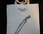 Knife tote bag, Crystal Rose tattoo
