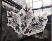 Peony~ temporary tattoo by Crystal Rose Tattoo