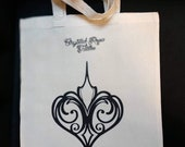 Heart tote bag, Crystal Rose tattoo