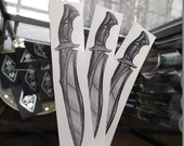 Knife~ temporary tattoo by Crystal Rose Tattoo