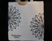 Cut mandala tote bag, Crystal Rose tattoo