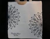 Cut mandala tote bag, Crystal Rose tattoo