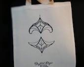 Ornamental tote bag, Crystal Rose tattoo