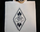Crt logo tote bag, Crystal Rose tattoo