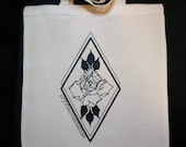 Crt logo tote bag, Crystal Rose tattoo