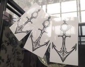 Anchor~ temporary tattoo by Crystal Rose Tattoo