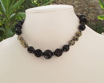 Black and white Choker necklace.