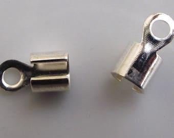 Silver crimp cord ends