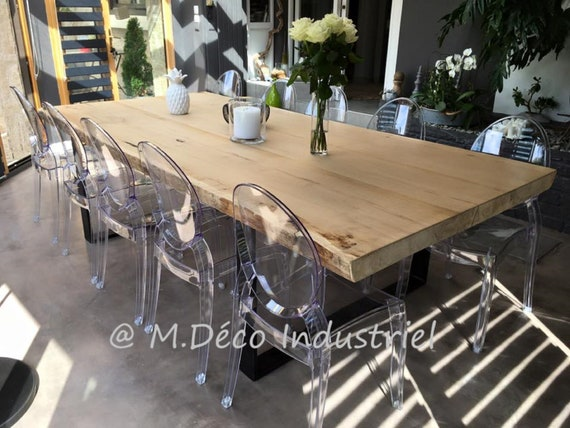 Dining Table Style Industrial Solid Oak 8 Cm