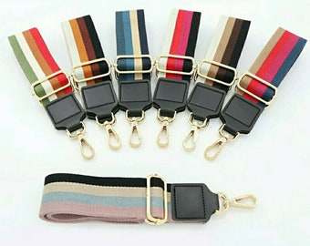 34e1c90e0 Replacement Strap For Handbag Adjustable Purse Strap Gold Hardware Nylon  Purse Belt Stripe Colorful Purse Strap For Bag Messenger Bag