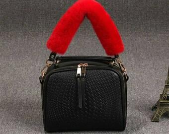 Short Faux Fur Bag Strap b6b11ec60a1fa