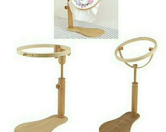 Hoop Stand,Stand For Cross Stitch Hoop,Embroidery Hoop Stand,Wood Stand For Hoop,Desk Top Frame Cross Stitch Hoop