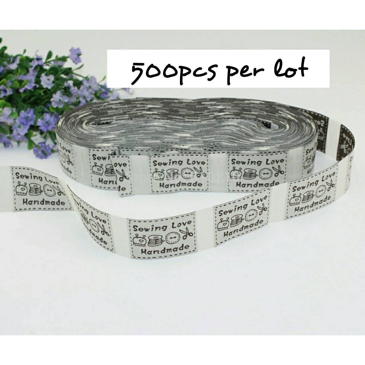 Fait à la main étiquettes, étiquettes en relief pour les les pour objets faits main, 500 pcs/lot, coudre dans l'étiquette, coudre dans étiquettes, étiquettes de point à la main a57e31