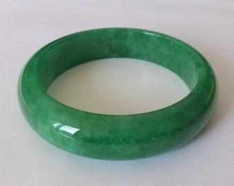 ASIAN-MOOD Fr 57 US 8 18.1mm Natural Jadeite Grade A Burmese white green jade ring ring for male