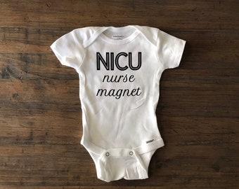 de21aeb80 Nicu onesie • nurse magnet • coming home outfit • hospital onesie • newborn  nicu onesie • nicu graduate • custom baby onesie • pregnant