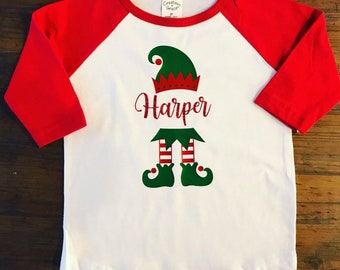 806850a42 Elf shirt • toddler Christmas elf shirt • elf onesie • raglan tee • christmas  toddler shirt • Christmas shirt • toddler holiday shirt •