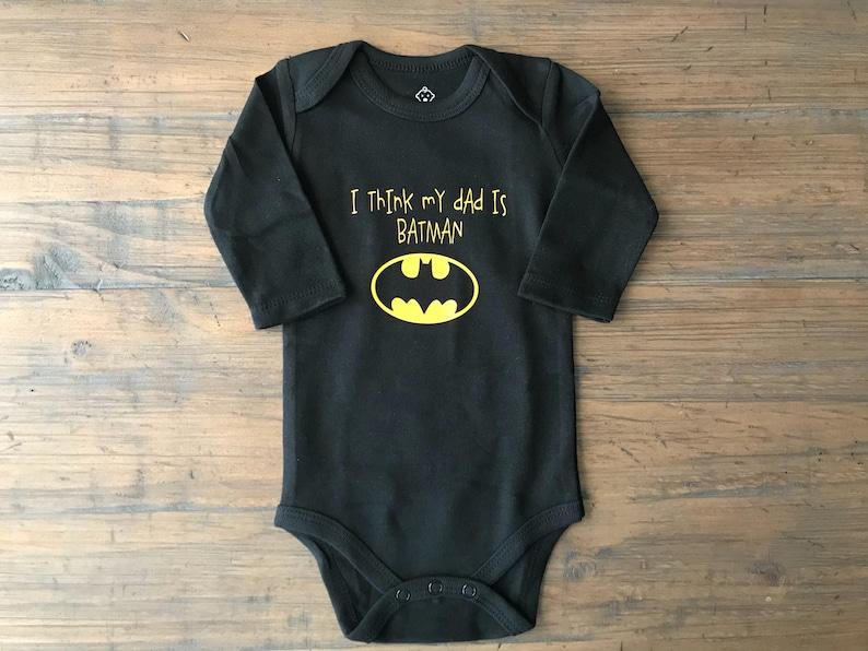 80a4103e Daddy is batman custom onesie batman toddler boy baby | Etsy