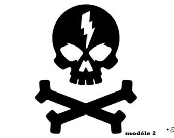 10a231e62849 appliqué thermocollant tête de mort rock flex