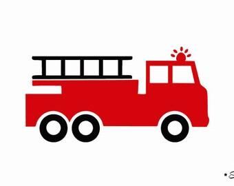 Camion De Pompier Etsy