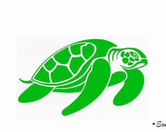 Green pattern turtle fusible