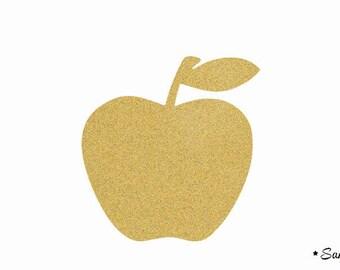 Apple gold flex fusible applique paillete