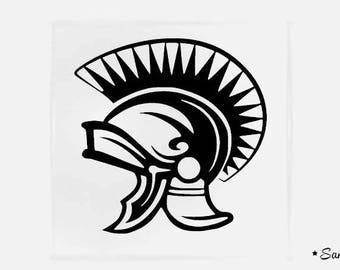 apply fusible flex Gladiator helmet