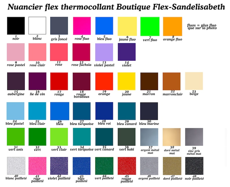 feather applied thermosticky flex color and size to choose from