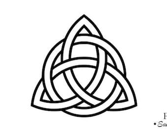 triquetra Trinity knot Celtic motif flex fusible