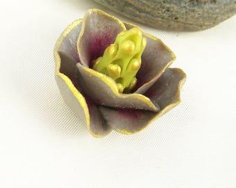 Magnolia flower, cold porcelain