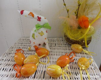 Rabbit Easter decoration or toy - Green Ribbon