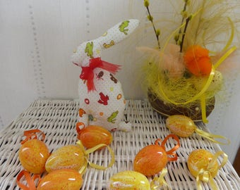 Rabbit Easter decoration or toy - Red Ribbon