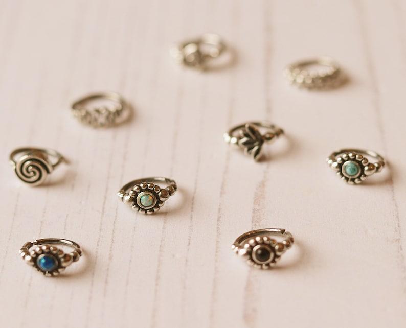 Silver Tragus Silver Nose Ring Silver Nose Ring Silver Earring Body Jewelry Nose Rings Nose Jewelry Nose Piercing Silver Jewelry