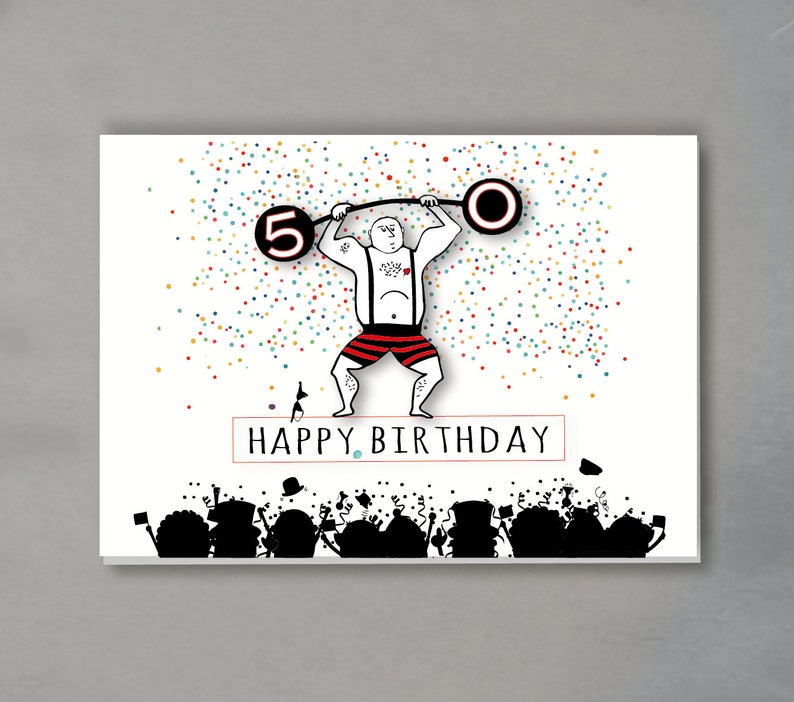 Birthday Card 50 Years Including Envelope