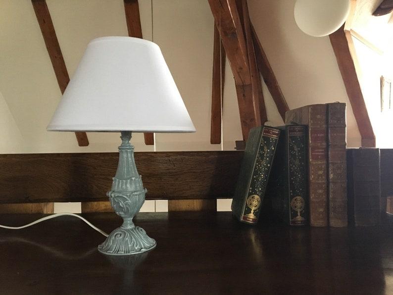 Antique Lamp Vintage Shabby Chic Lamp Patina Lamp Base France