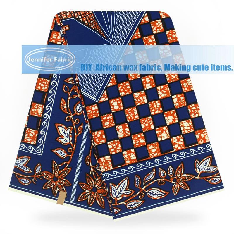 Vente gros en gros Vente de 6 yards / tissu wax marron/or/néerlandais / coton africain tissu imprimé de cire/Super wax Hollandias/pagne / nigérian cire B181213-5 db192b