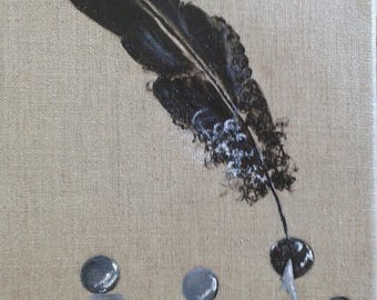 """""""Feather pearls"""" canvas"""
