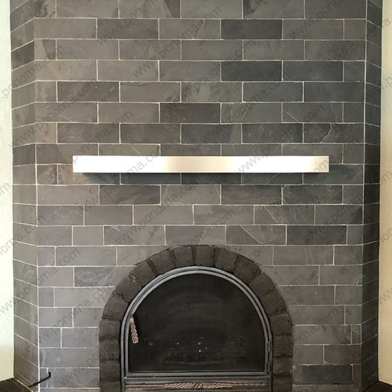 Stainless Steel Floating Shelf Ponoma, Stainless Steel Fireplace Mantel
