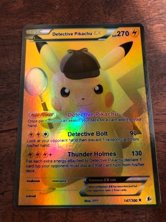 Detektiv Pikachu Gx Pokemon Luxus Karte Orica Etsy
