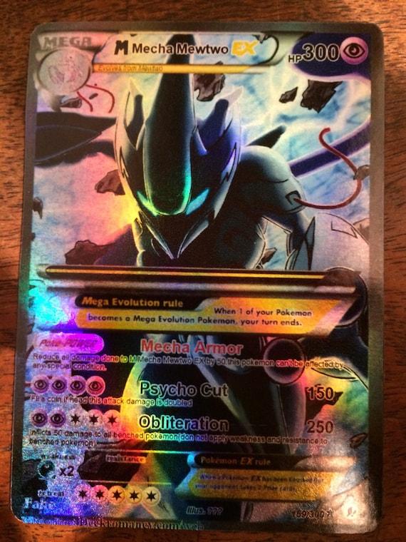 Mewtu schatten gx zb pokemon karte orica proxy etsy - Carte pokemone ex ...