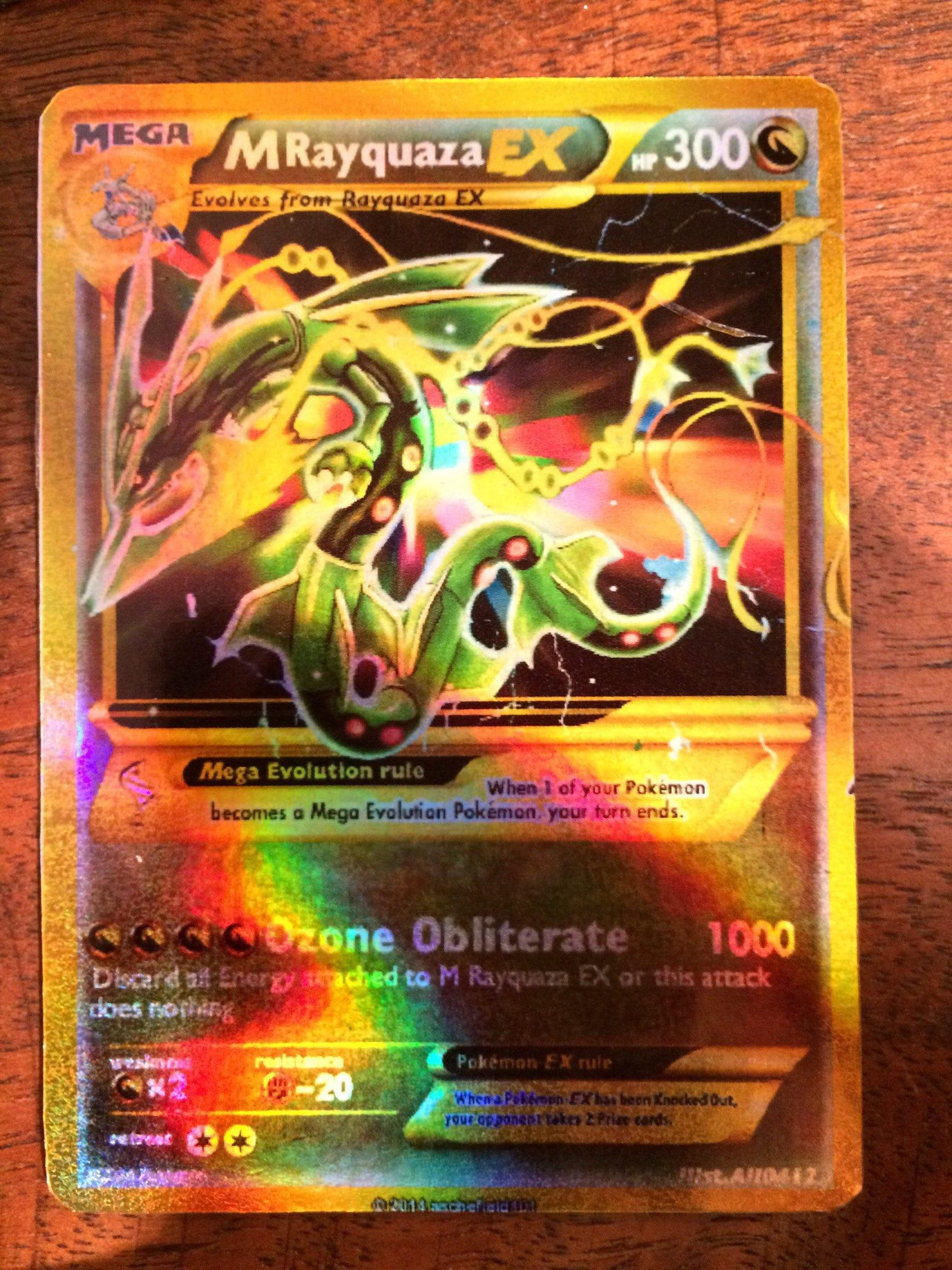 M Rayquaza ex Mega full art Shiny orica Pokemon trading ...