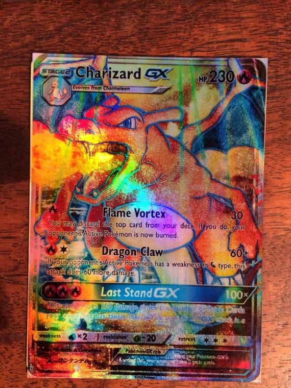 charizard gx pokemon card orica etsy