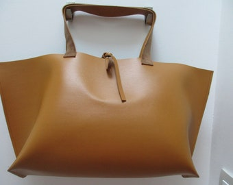 camel faux suede bag