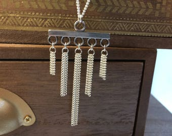 Long chandelier necklace